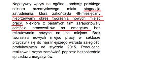 Zatrudnienie w polskim przemyśle przestało rosnąć - wynika z raportu PMI