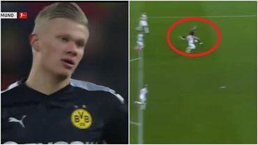 Erling Braut Haaland strzela pierwszego gola dla Borussii Dortmund