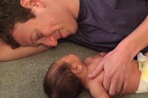 Mark Zuckerberg z córką Max