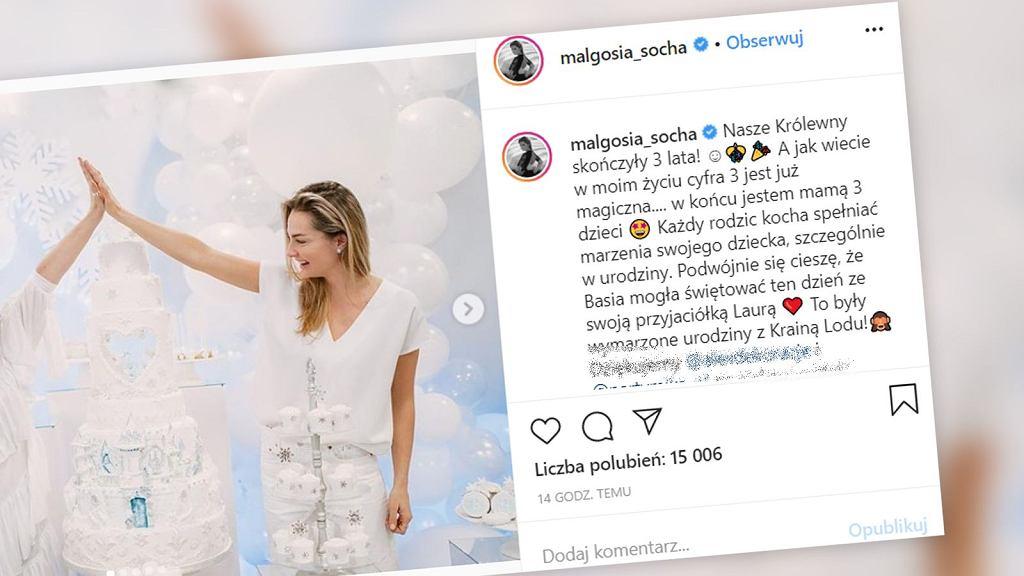 Małgorzata Socha i Natalia Kukulska urządziły córeczkom wyjątkowe przyjęcie urodzinowe.