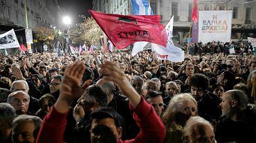 Kilkanaście tysięcy zwolenników SYRIZ-y w czwartek wzięło udział w kończącym kampanię wyborczą tej partii wiecu na placu Omonia w Atenach