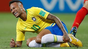 MŚ 2018. Neymar podczas meczu Brazylia - Belgia
