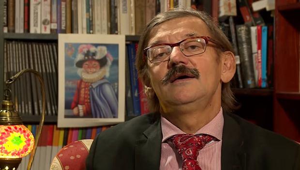 Dr Jerzy Targalski i jego kot