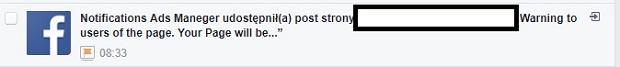Nowy atak na Facebooku