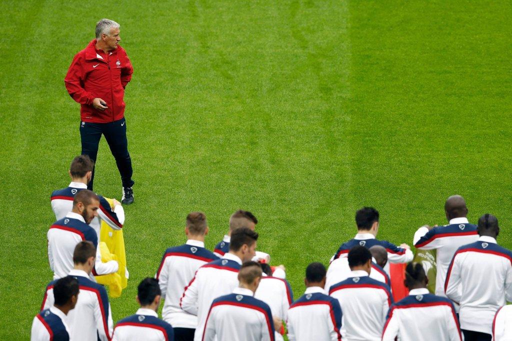 Trening reprezentacji Francji