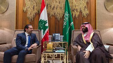 Były premier Libanu Saad al-Hariri i saudyjski książę Mohammed bin Salman