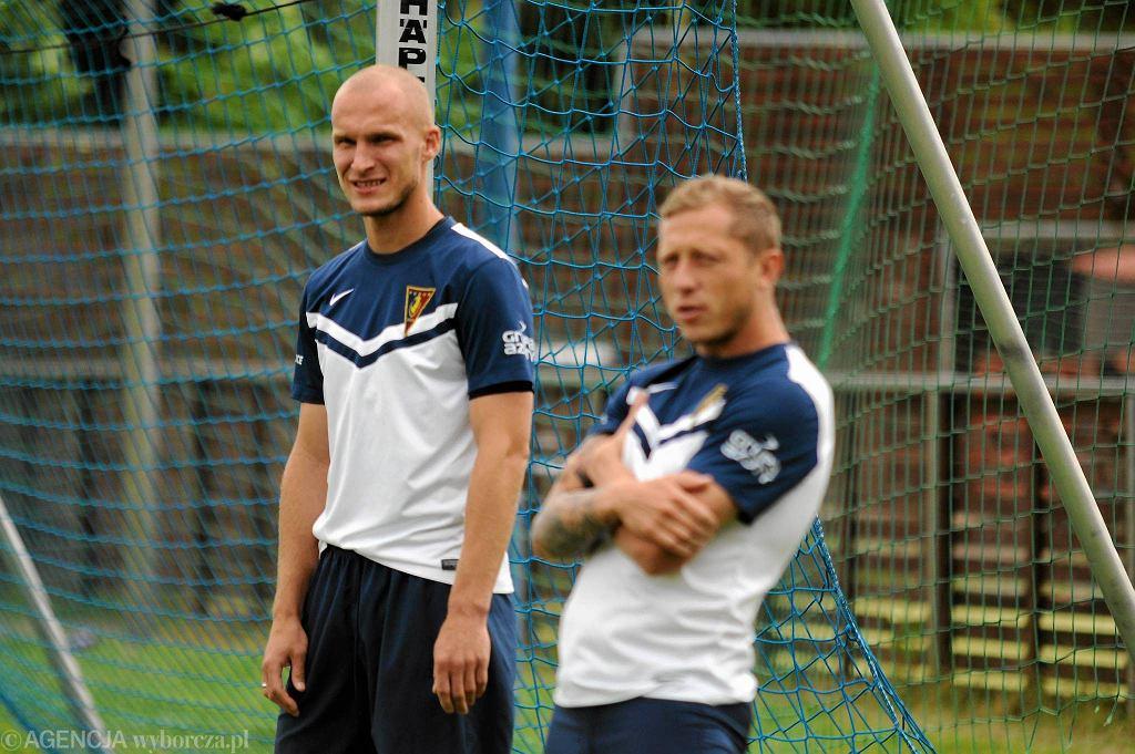 Trening Pogoni Szczecin: Jarosław Fojut i Rafał Murawski