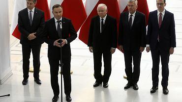 Andrzej Duda i politycy PiS