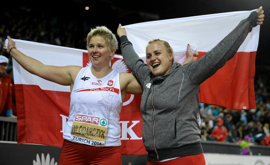 Anita Włodarczyk i Joanna Fiodorow