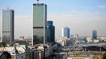 Widok na centrum Warszawy z dachu Universalu