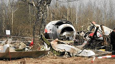 Miejsce katastrofy samolotu Tu-154M
