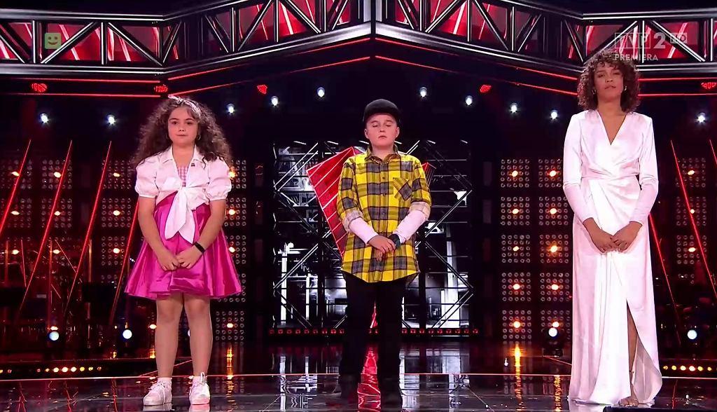 'The Voice Kids'. Amelia, Mikołaj i Sara