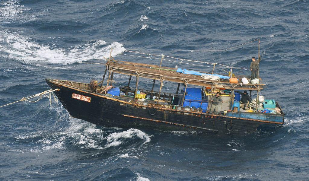 Północnokoreańska łódź, która pojawiła się u wybrzeży japońskiego Hokkaido pod koniec listopada
