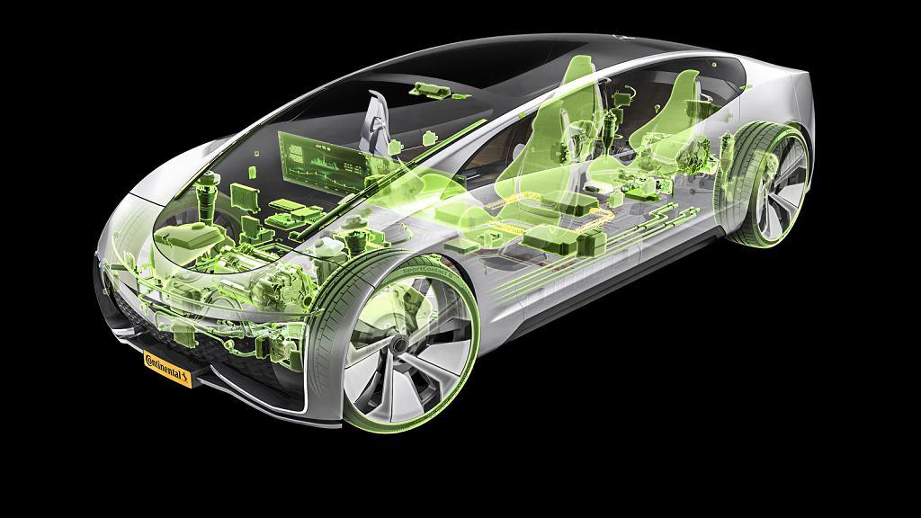 Zeroemisyjny samochód przyszłości (rysunek koncepcyjny)