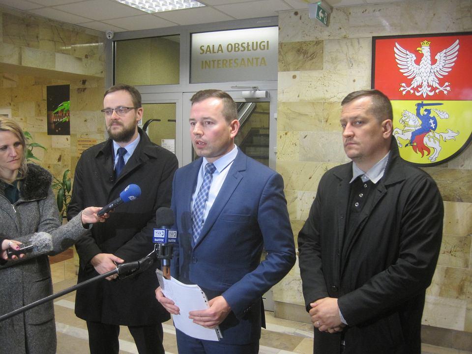 Konferencja prasowa radnych PiS w sprawie powołania zastępcy prezydenta