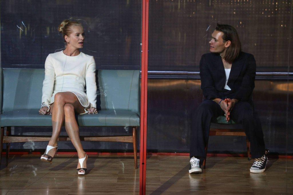 Magdalena Cielecka i Bartosz Gelner w spektaklu 'Francuzi'