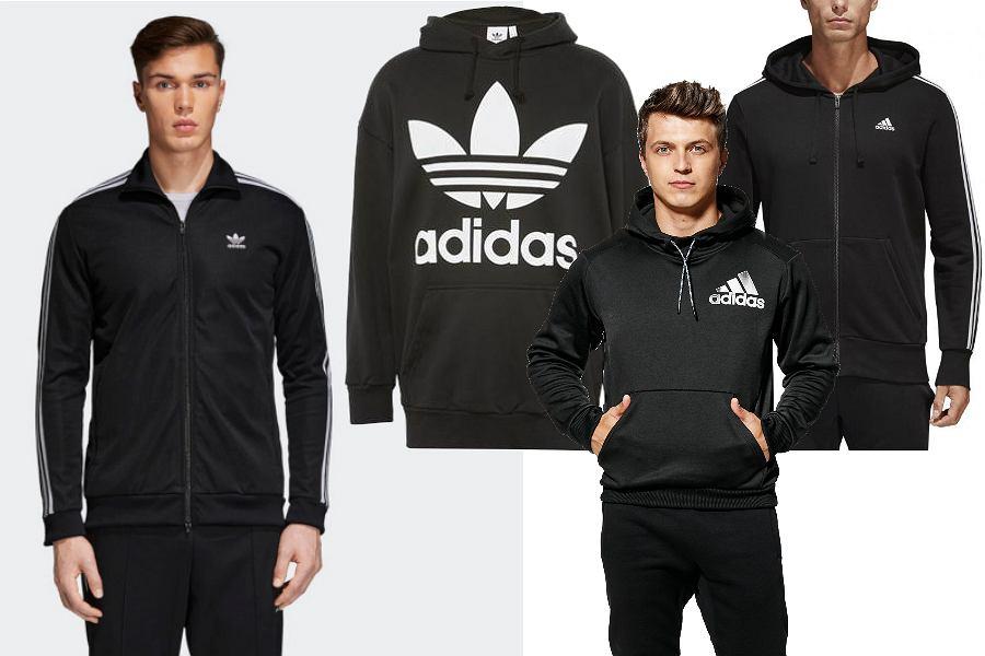 Adidas czarne bluzy