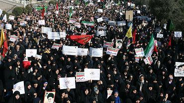 Antyrządowe protesty na ulicach Teheranu, 30 grudnia 2017 r.