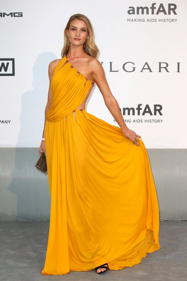 Model Rosie Huntington-Whiteley arrives for amfAR's Cinema Against AIDS 2014 event in Antibes during the 67th Cannes Film Festival May 22, 2014. REUTERS/Benoit Tessier (FRANCE - Tags: ENTERTAINMENT)