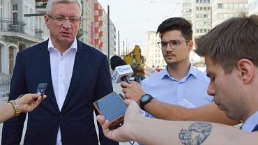 Prezydent Jacek Jaśkowiak i Kamil Kłopocki