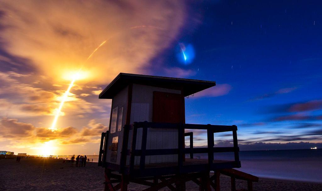 Satelity Starlink wynoszone na orbitę