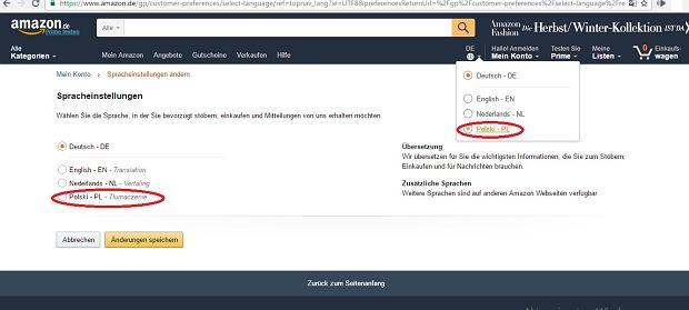 Jak włączyć polską wersję Amazona