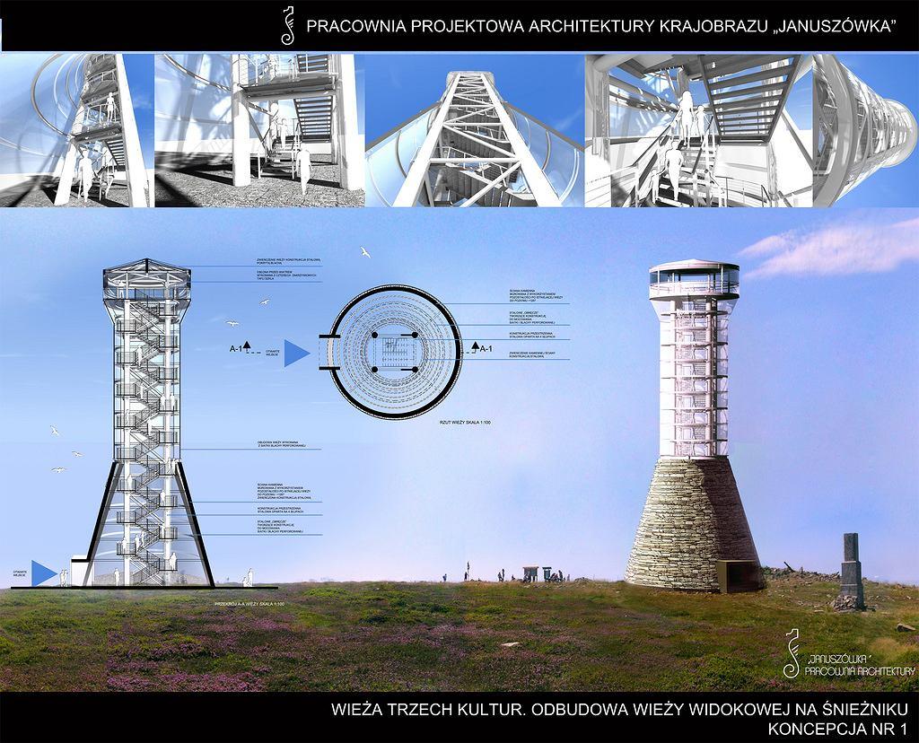 Wieża Trzech Kultur, projekt pracowni Januszówka