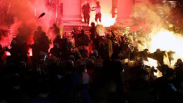 Protesty w Belgradzie - 10 lipca 2020