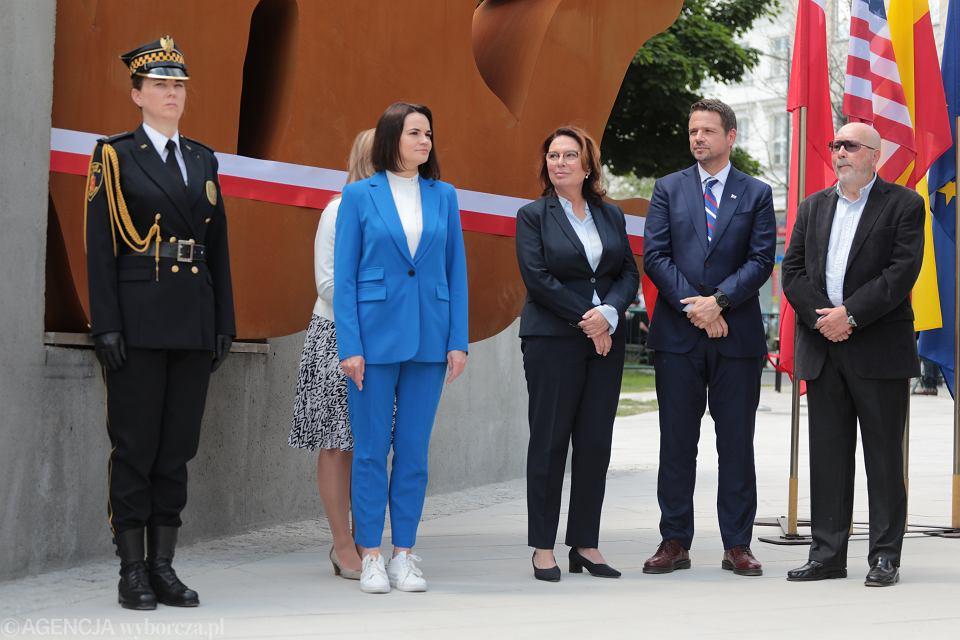Odsłonięcie pomnika 'Solidarności' w Warszawie