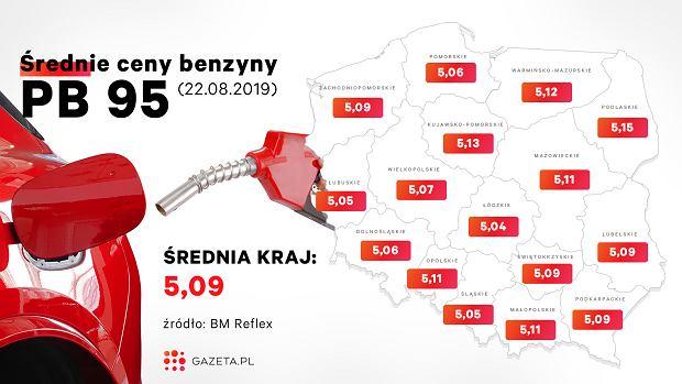 Średnie ceny paliw