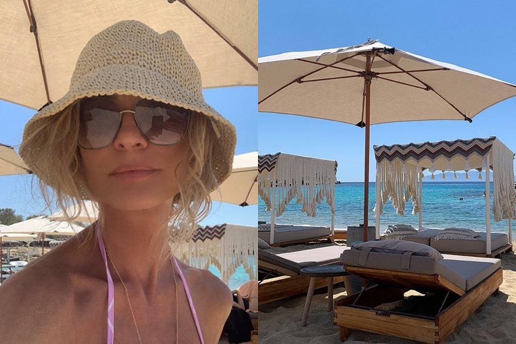Aneta Kręglicka na wakacjach