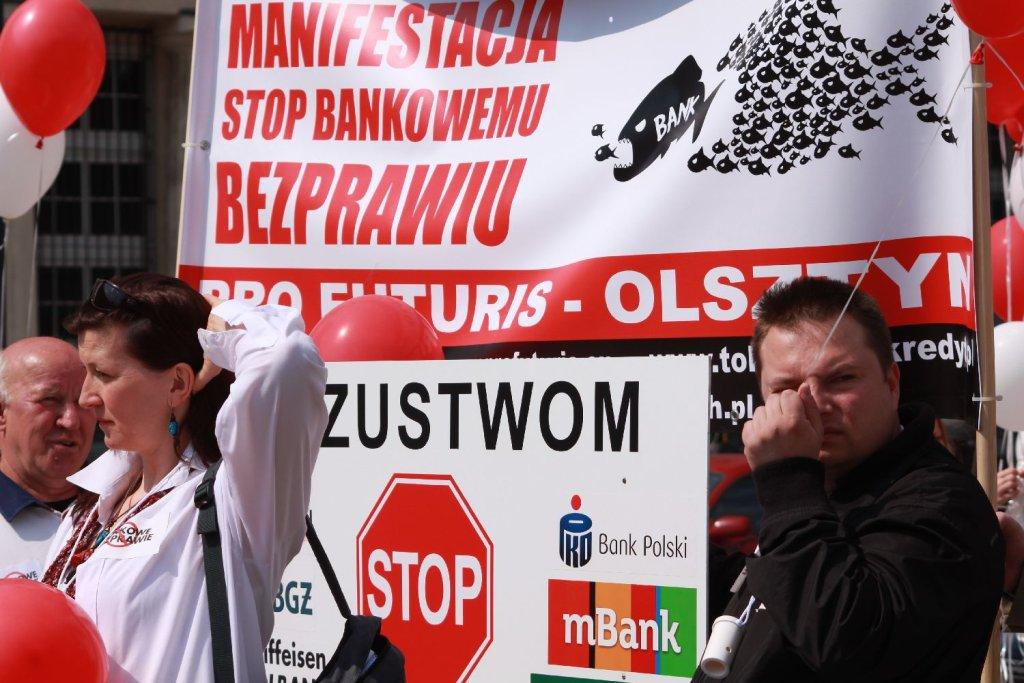 Manifestacja Stop Bankowemu Bezprawiu. Warszawa 25 kwietnia 2015 r.