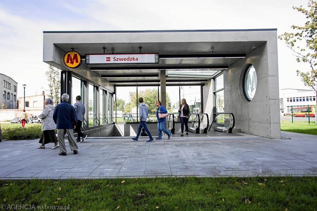 Stacja metra na Targówku.