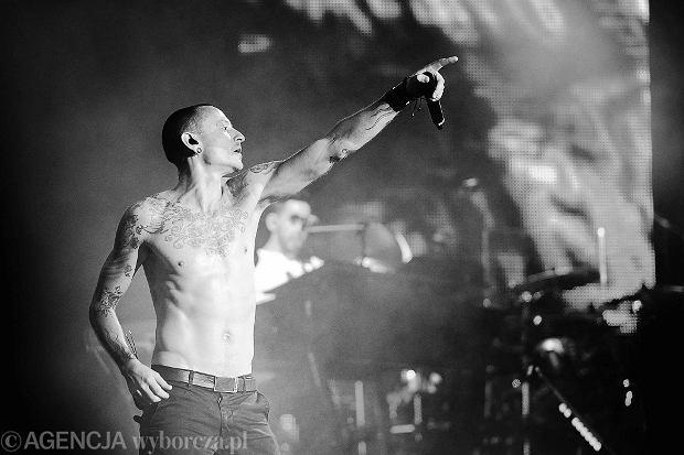 Chester Bennington. Koncert Linkin Park we Wrocławiu, 2014 r.