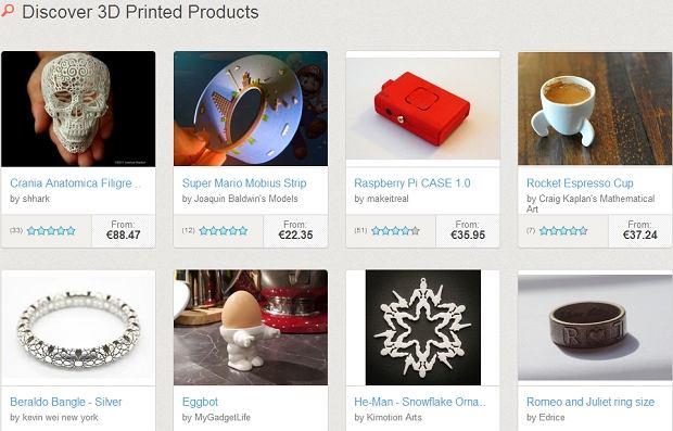 Przykłady projektów z Shapeways.com