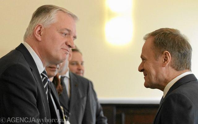 Jarosław Gowin i Donald Tusk