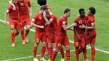 Radość Belgów po zwycięskim golu