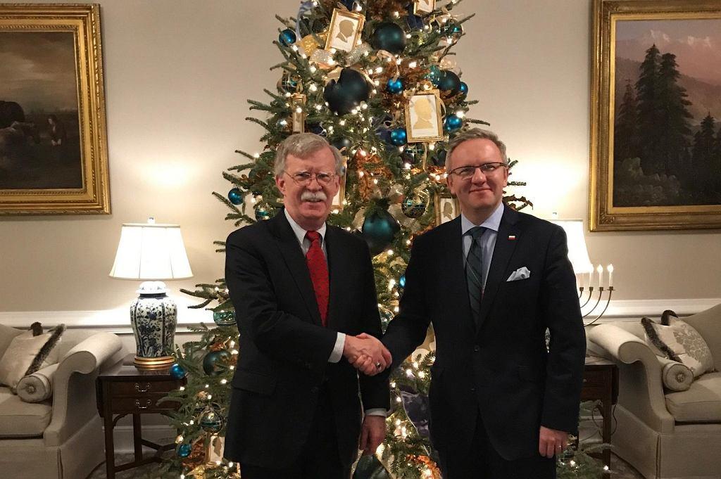 John Bolton i Krzysztof Szczerski