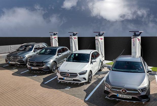 Zelektryfikowane Mercedesy