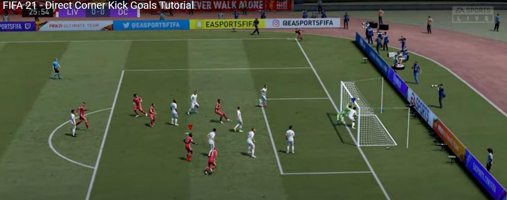 YouTuber 'Wrzzer' odkrył poważny błąd w grze FIFA 21, po którym można strzelać gole z rzutów rożnych