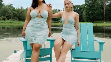 Przyjaciółki pokazują, że liczba na metce nie ma znaczenia. Jedna nosi rozmiar 36, druga 44