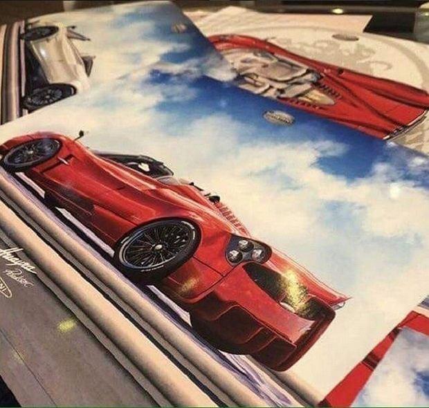 Rysunek Pagani Huayry Roadster