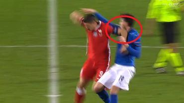 Robert Lewandowski uderzył reprezentanta Włoch