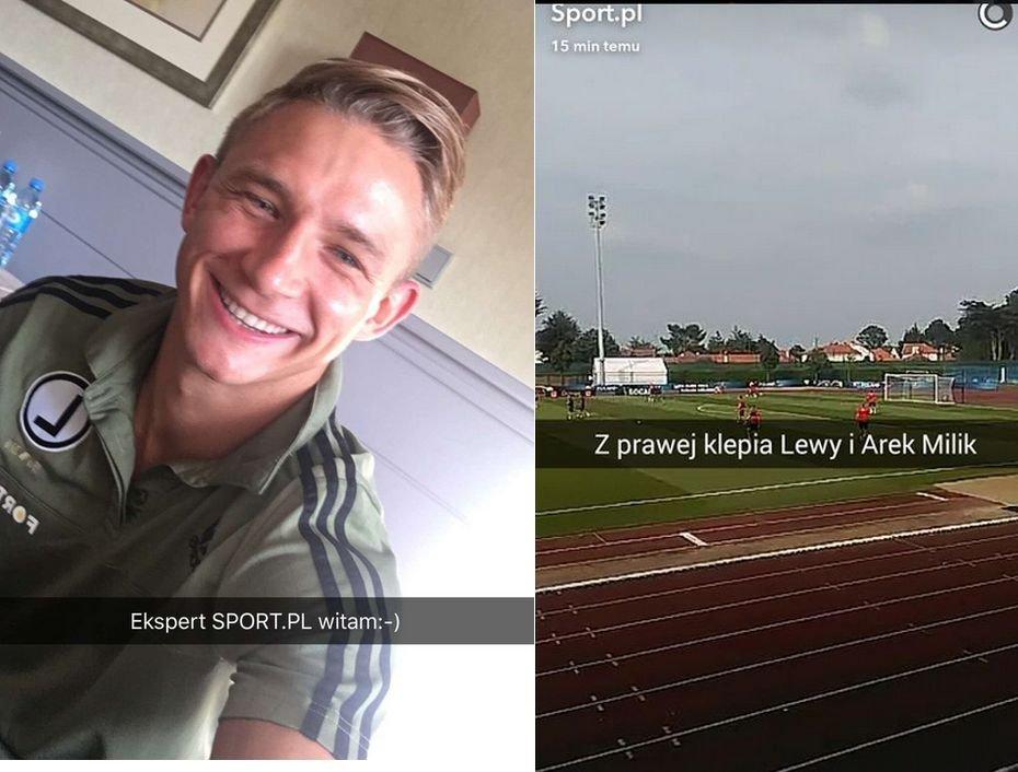 Snapchat Sport.pl w trakcie Euro 2016
