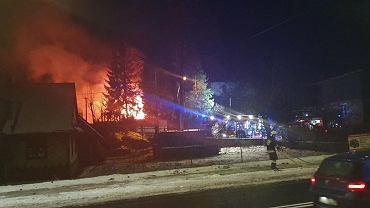 Wybuch gazu w domu jednorodzinnym w Szczyrku. Zdjęcie: Sylwester Gorząd / Waszym Okiem Radio Bielsko