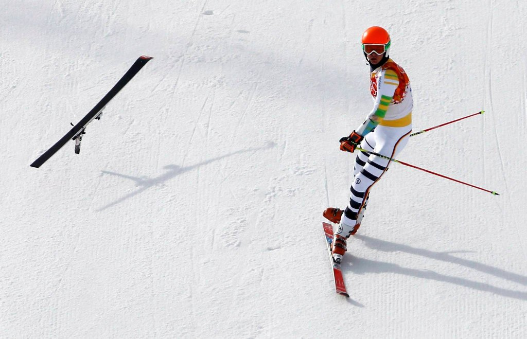 Stefan Luitz podczas pechowego slalomu giganta