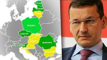 Polska gospodarka nie rośnie najmocniej wśród krajów regionu