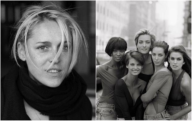 Dwa zdjęcia Petera Lindbergha: portret Aleksandry Woronieckiej i supermodelki w 1990 r.