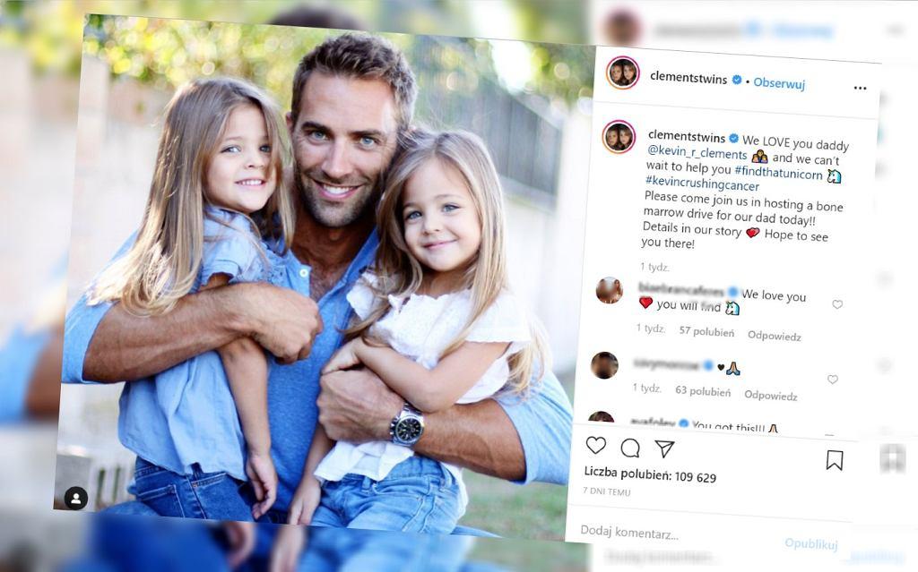 Najpiękniejsze bliźniaczki na świecie mają tatę chorego na białaczkę