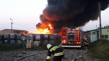 Pożar składowiska odpadów we Wszedniu